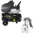 Compressor Ar 2hp 110v Ak-4724 + Pistola Pintura 1,5mm Hp-25
