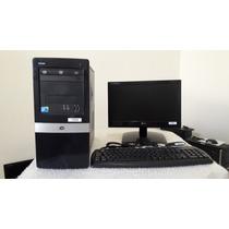 Cpu Hp Core 2 Duo E7500 Completa Com Monitor