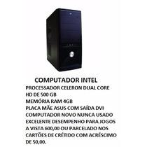 Cpu Nova Intel Pentium Dual Core, Placa Mãe Msi