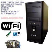 Pc Intel G2030 4gb Ram Hd 500gb Mb Asus P8h61 Dvd Wifi