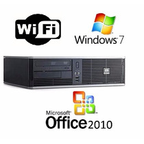 Pc Hp- Core 2 Duo Wi-fi 2gb - 160gb Windows 7 E Office 2010
