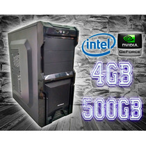 Cpu Gamer Intel/ 4gb/ 500gb/ Dvd/ Gabinete