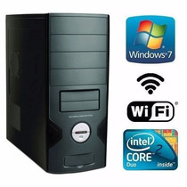 Cpu Core 2 Duo Com Windows 7 Original, 4gb Memoria Hd 500gb