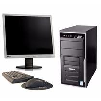 Pc Core 2 Duo Windows Original + Monitor Lg 17