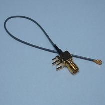 Pigtail Sma Fêmea Reverso Ufl P/ Pci 90 Graus 15 Cm P/antena