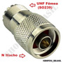 Conector Adaptador N Macho - Uhf Fêmea (so239)