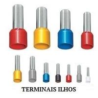 Terminal Tubular Ilhós 1,0mm² C/ 100pçs