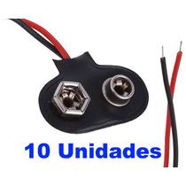 Clip Conector Para Bateria 9v Tipo T - 10 Unidades