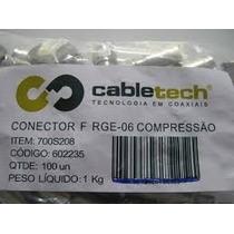 Conector Rg6 100 Pçs