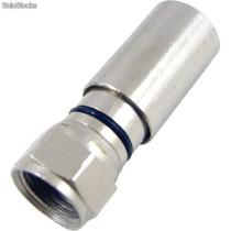 50 Conectores Rg6 De Compressão Cabletech