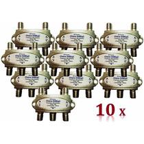 Chave Diseqc 4x1 - 10 Unidades Rg6 Rg59