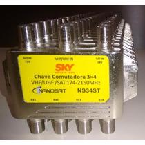 Chave Comutadora Sky 3x4 Receptores Pode Substituir Diseqc