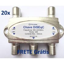 Chave Diseqc 4x1 Importada - 20 Unidades - Frete Grátis