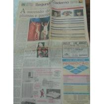 Jornal Segundo Caderno 1992 Cláudia Raia E Virgínia Lane