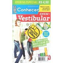 Lote 3 Revistas Conhecer Enem + Vestibular Coquetel Escolher