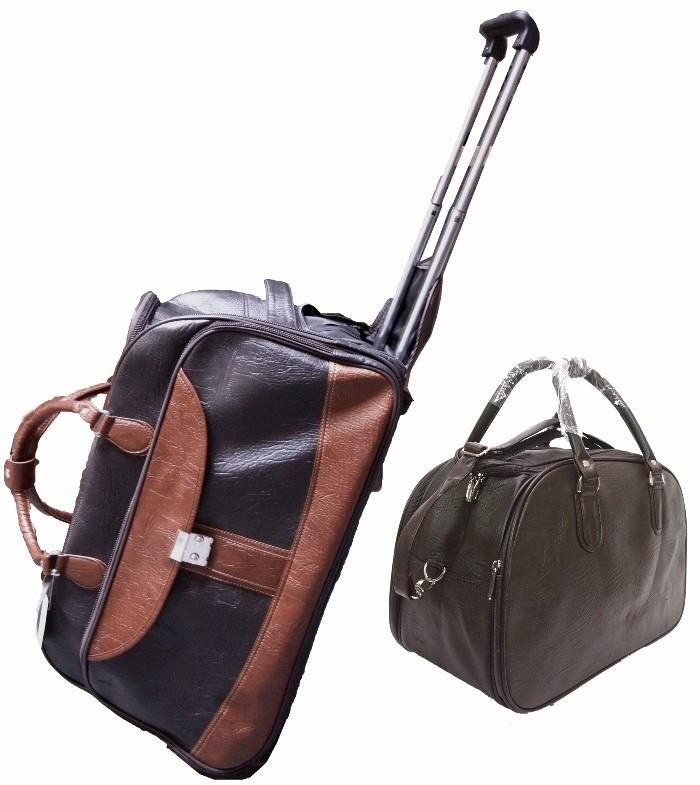 conjunto de mala de viagem com rodinhas e bolsa de m o m dia r 169 90 em mercado livre. Black Bedroom Furniture Sets. Home Design Ideas