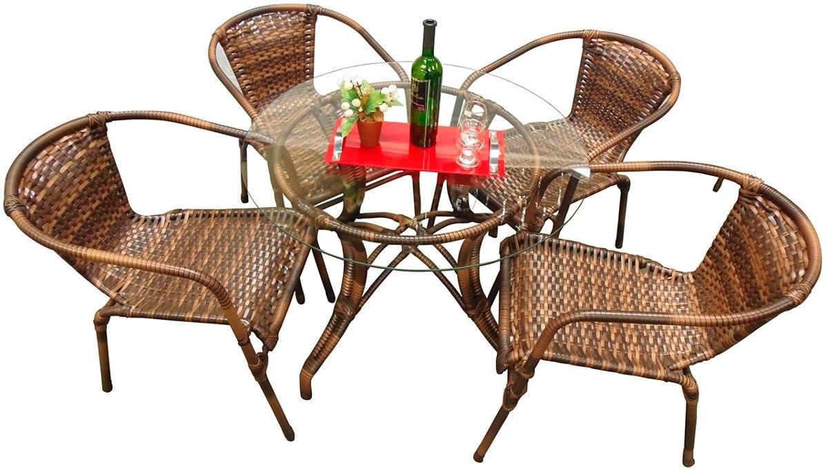 Conjunto de mesa e 8 cadeiras com tampo de vidro quadrado - Mesas de rattan ...
