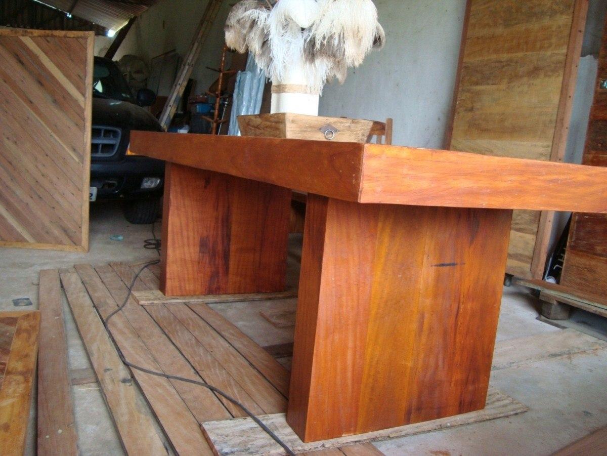 conjunto de mesa e 2 bancos de peroba rosa #A96122 1200x901