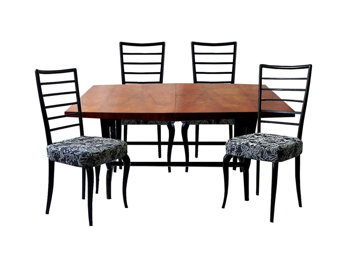 conjunto de mesa e 4 cadeiras para sala de jantar anos 50 22679  #8D583E 1200x900