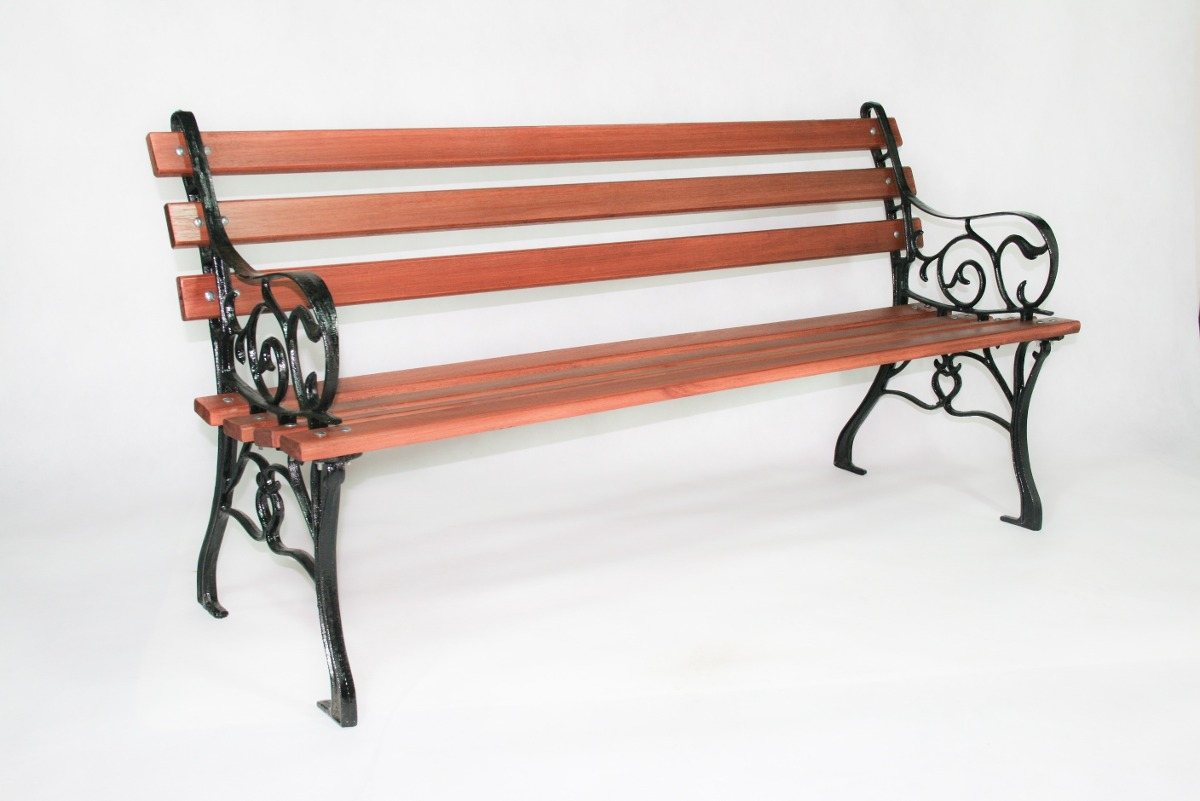Conjunto Francês Jardim Madeira Ferro Fundido 3 Banco 1 Mesa R$ 880  #994632 1200x801