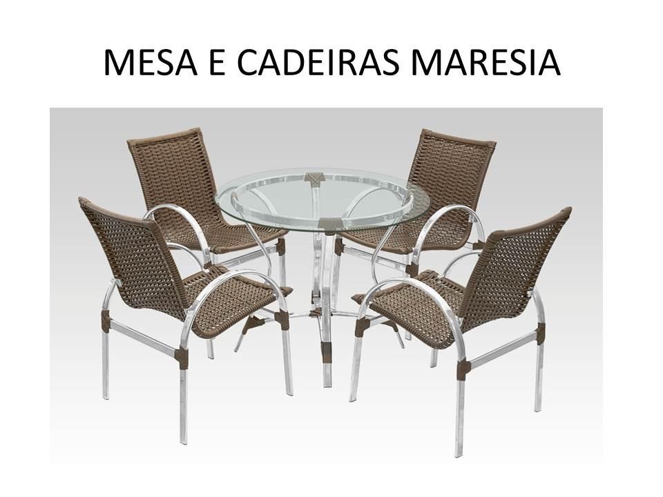 mesa jardim fibra sintetica:Conjunto Mesa Com 4 Cadeiras Em Aluminio E Fibra Sintética – R$ 1.999