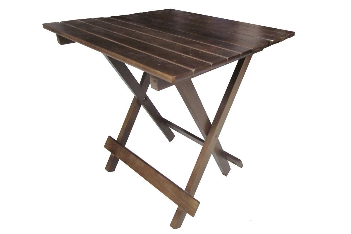 Conjunto Mesa E Cadeira Dobrável De Madeira Imbuia (bar) R$ 279  #775D4B 1200x801