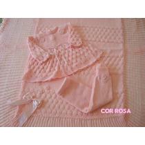 Saida Maternidade Manta Vestido Calçacomp Enxoval