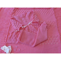 Manta+vestido+calçacomp Enxoval Bebe Nene Saida Maternidade