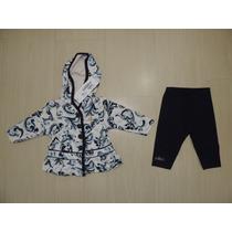 Conjunto Infantil Inverno Casaco Plush, Legging Milon. Tam.p