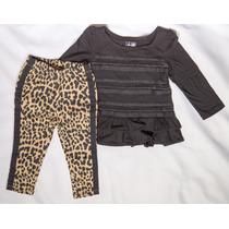 Conjunto 2 Peças - Legging E Blusa Malha Babygap
