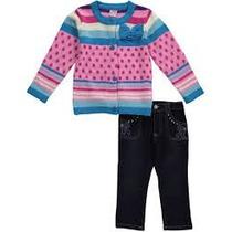 Conjunto Inverno Importado Menina Blusa Linha E Calça Jeans