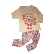 Conjunto Infantil Gatinha Com Calça Legging