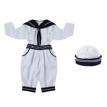 Conjunto Infantil Marinheiro Longo