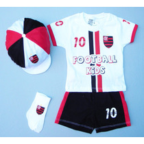 Conjunto Do Flamengo P/ Bebê C/ 4 Peças,