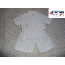 Conjunto Social Batizado Infantil Menino Bebê Terno