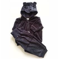 Conjunto Calça E Blusa Com Capuz Em Plush Hering Baby