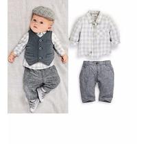 Conjunto Para Bebês Outono/inverno Social Pronta Entrega