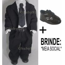 Terno Infantil Bebê 03 A 18 Meses + Sapato Social + Brinde