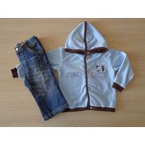 Conjunto Infantil Tigor T Tigre Baby Jaqueta E Calça Azul