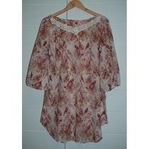 Vestido/bata/camisão/camisa Farm-original- Florido-adulto M