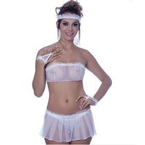 Fantasia Noiva Sexy Sensual Lingerie Intima, Sexshop