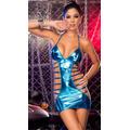Linda Sexy Vestido Vinil Sensual Fantasia Importado