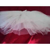 Saia De Tule Branca 3 Camadas Tutu Bailarina