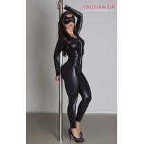Fantasia Mulher Gato Macacão - Pronta Entrega - P, M, G, X G