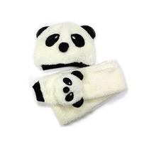 Gorrinho Cachecol Touca Infantil Urso Panda Branco No Brasil