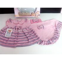 Saida Maternidade- Manta ,vestido E Faixa De Cabelo