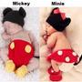 Conjunto Newborn Crochê Minie Ou Mockey