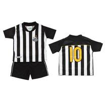 Conjunto Helanca Camiseta E Shorts Santos - Torcida Baby