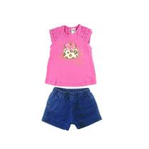 Conjunto Bebê Pink Tam.01,02anos Piks For Kids Frete Grátis