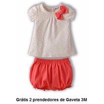 Conjunto Infantil Bebês 2 Peças Roupinha Verão - Menina